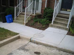 sidewalk concrete repair project