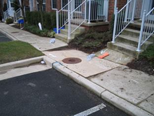 sidewalk contrete repair contractor