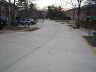 concrete roadway paving