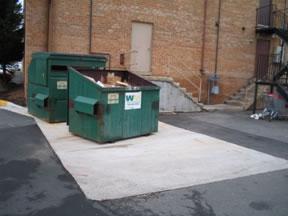 dumpster pad concrete contractor